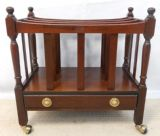 Mahogany Reproduction Canterbury Magazine Stand